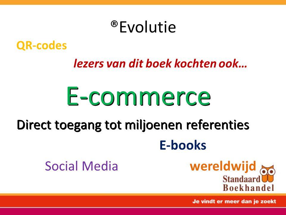 ®Evolutie QR-codes lezers van dit boek kochten ook… E-commerce Direct toegang tot miljoenen referenties E-books Social Media wereldwijd