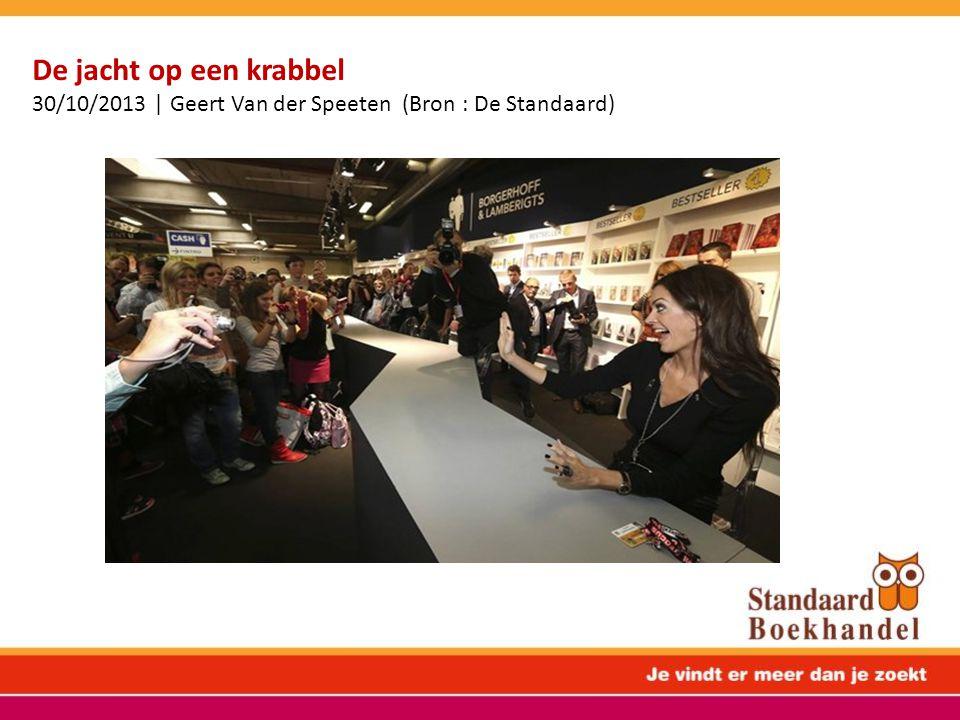 De jacht op een krabbel 30/10/2013 | Geert Van der Speeten (Bron : De Standaard)