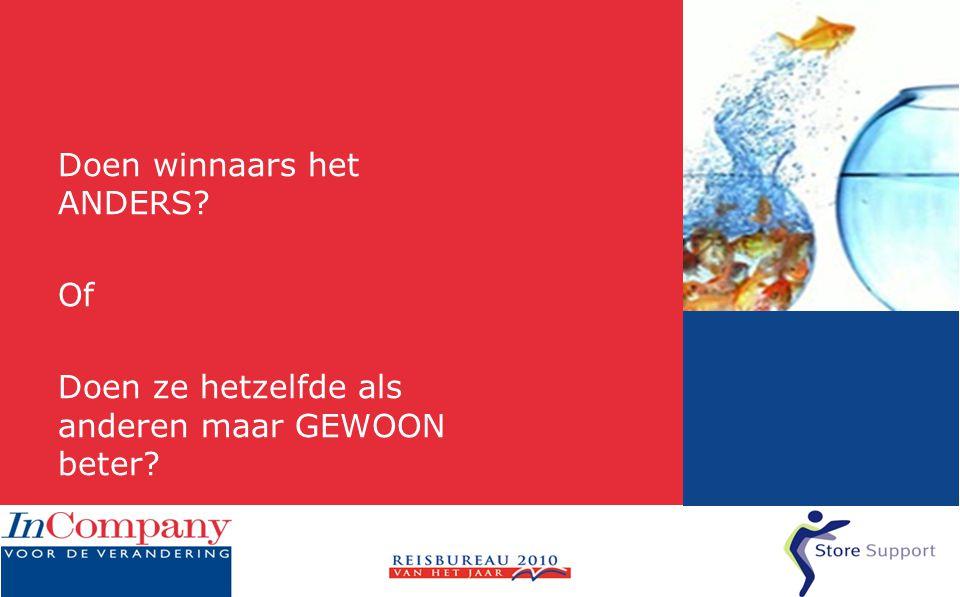 www.storesupport.nl Afsluiting/algemeen • Geeft het functioneren van de medewerker een reden om hier een reis te boeken in plaats van via het internet.