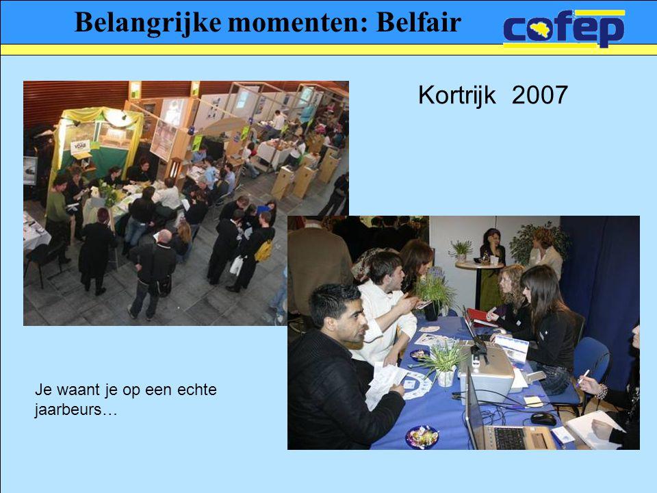 Belangrijke momenten: Belfair Je waant je op een echte jaarbeurs… Kortrijk 2007
