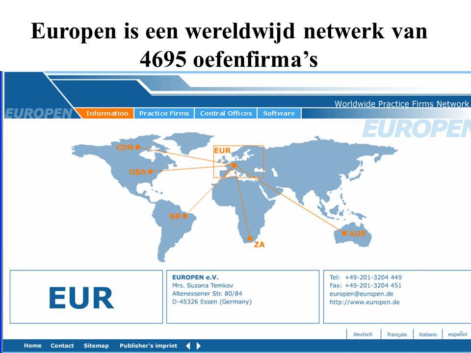Europen is een wereldwijd netwerk van 4695 oefenfirma's