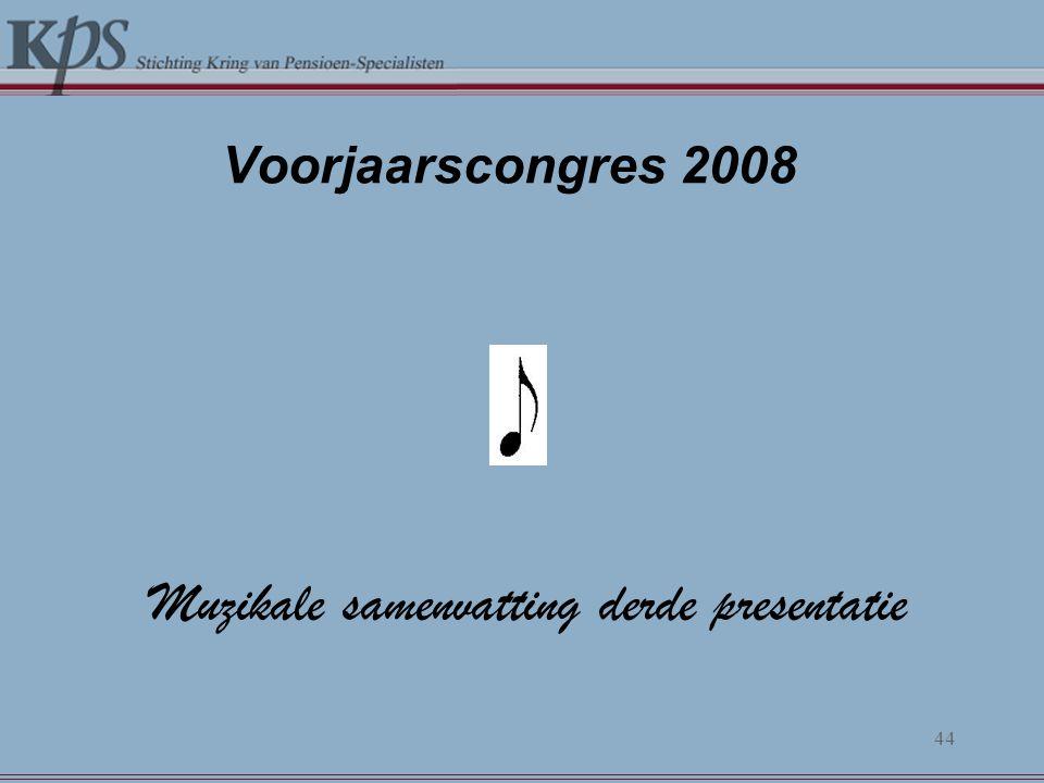 Voorjaarscongres 2008 Muzikale samenvatting derde presentatie 44