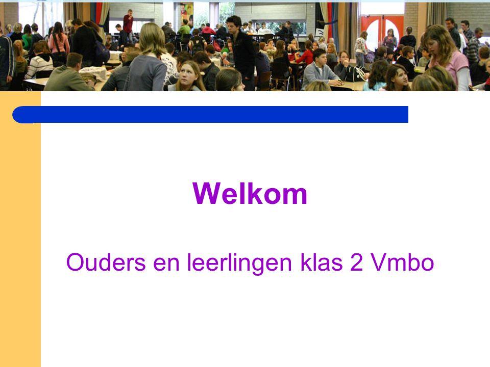 Welkom Ouders en leerlingen klas 2 Vmbo