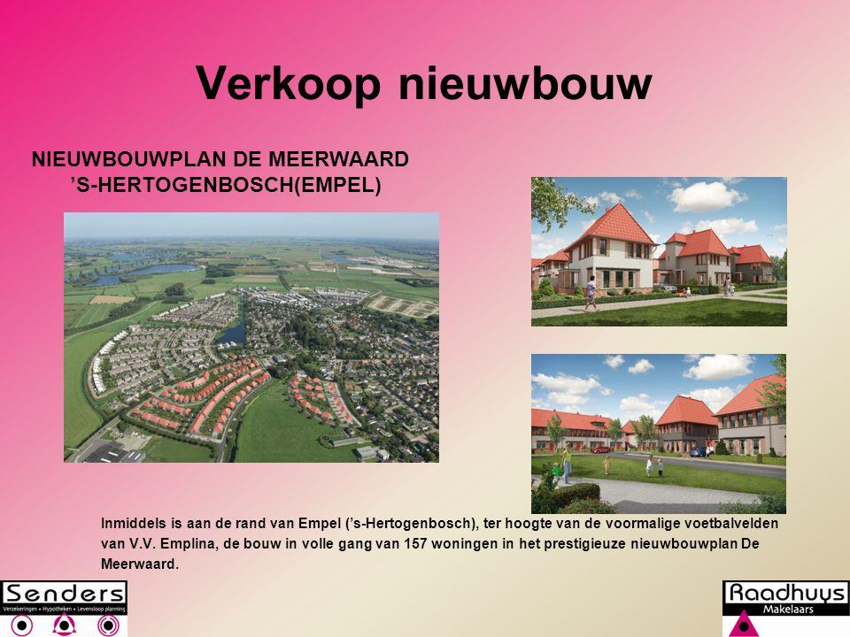 Verkoop nieuwbouw Inmiddels is aan de rand van Empel ('s-Hertogenbosch), ter hoogte van de voormalige voetbalvelden van V.V. Emplina, de bouw in volle