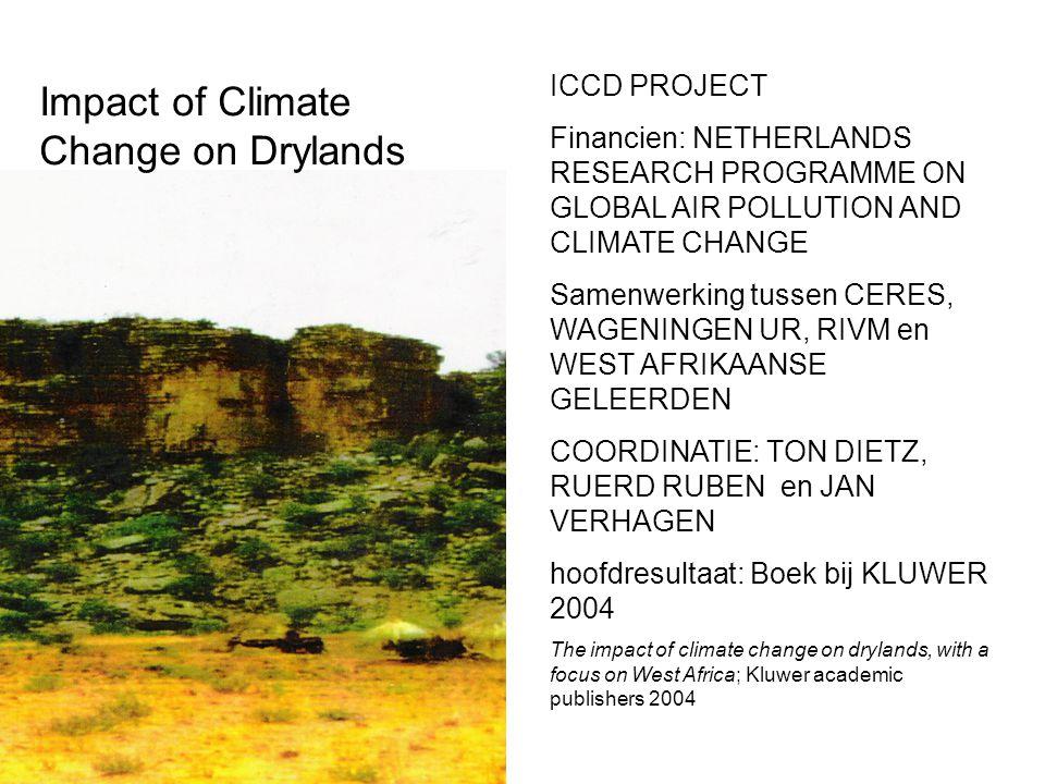 Afrika: semi-aride en sub-humide gebieden, met hoge of lage degradatie, hoge of lage bevolkingsdichtheden en urbaan of ruraal