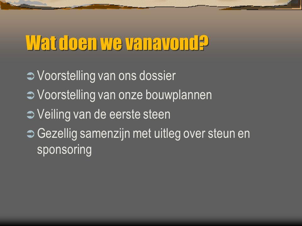 Ons bouwdossier  De scouts van Oudegem-Mespelare  Onze problemen  Veel pogingen  Wat zijn we nu van plan.
