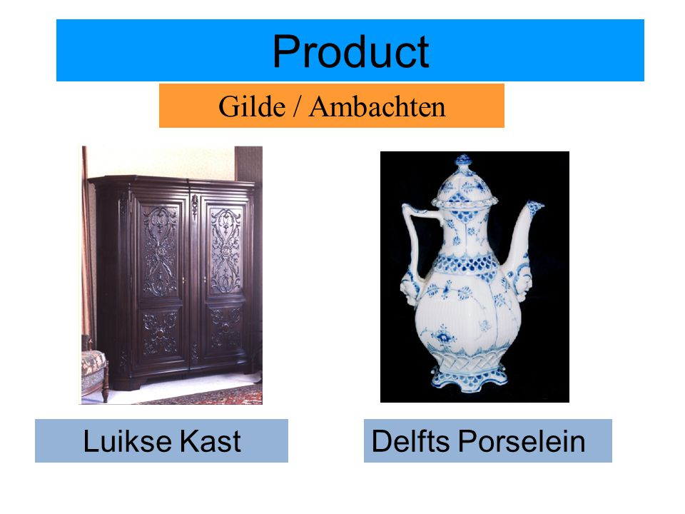 Luikse Kast Product Gilde / Ambachten Delfts Porselein