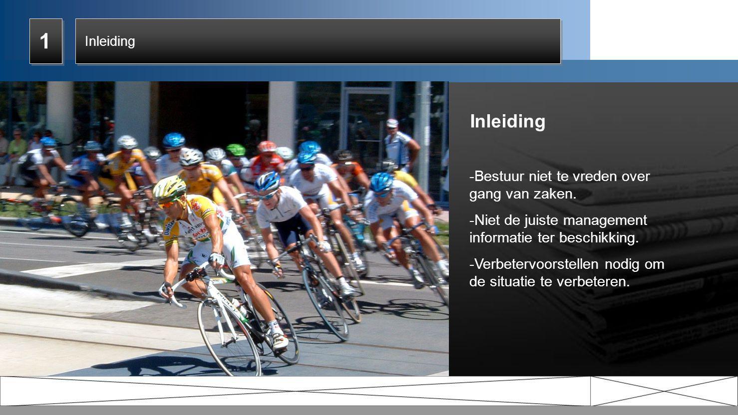 2.12.1 2.12.1 Huidige situatie • Wielerbond organiseert wielerwedstrijden; • 7-daags evenement.