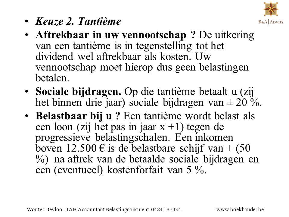 Wouter Devloo – IAB Accountant Belastingconsulent 0484 187434 www.boekhouder.be 16.