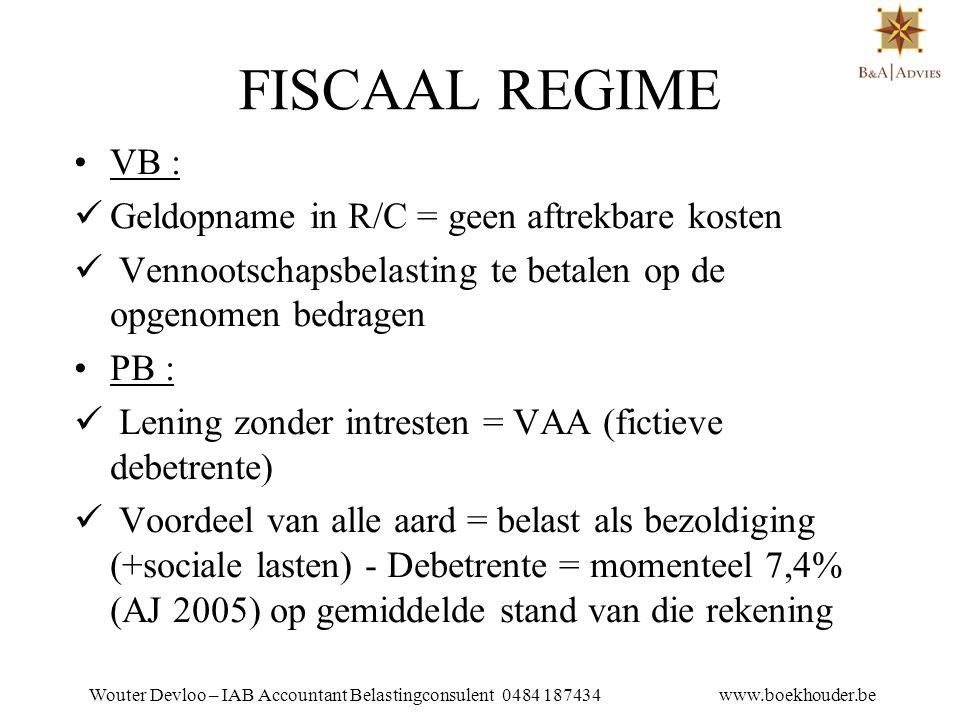Wouter Devloo – IAB Accountant Belastingconsulent 0484 187434 www.boekhouder.be 16.3.