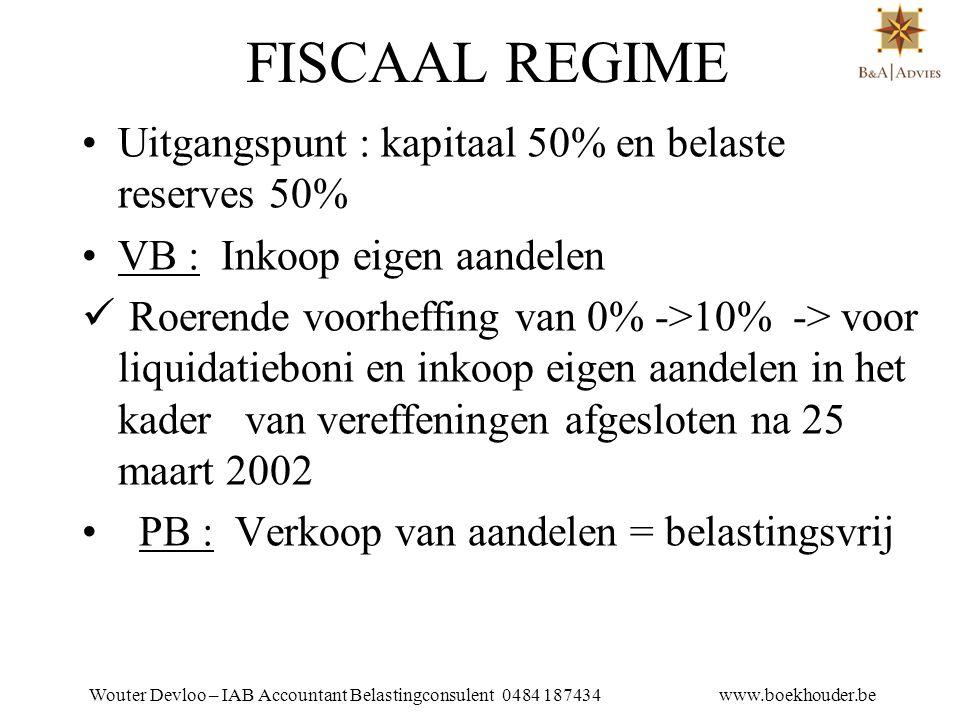 Wouter Devloo – IAB Accountant Belastingconsulent 0484 187434 www.boekhouder.be 18.3.