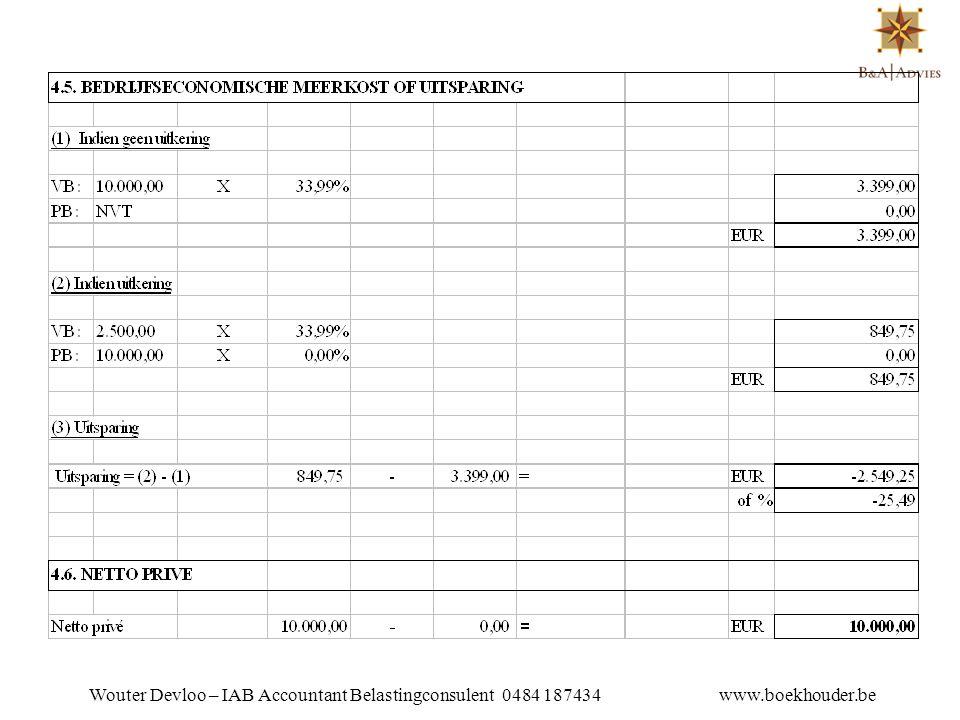 VOORDELEN •Indien de forfaitaire onkostenvergoeding wordt geacht overeen te stemmen met werkelijke kosten is deze niet belastbaar in de personenbelasting.