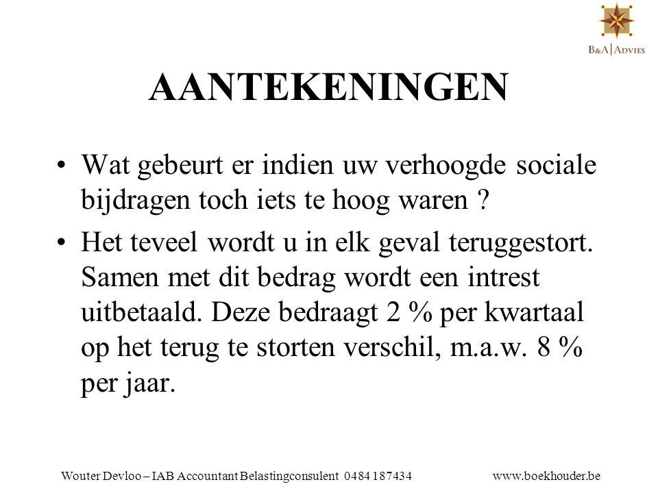 Wouter Devloo – IAB Accountant Belastingconsulent 0484 187434 www.boekhouder.be HOE STARTER WORDEN .