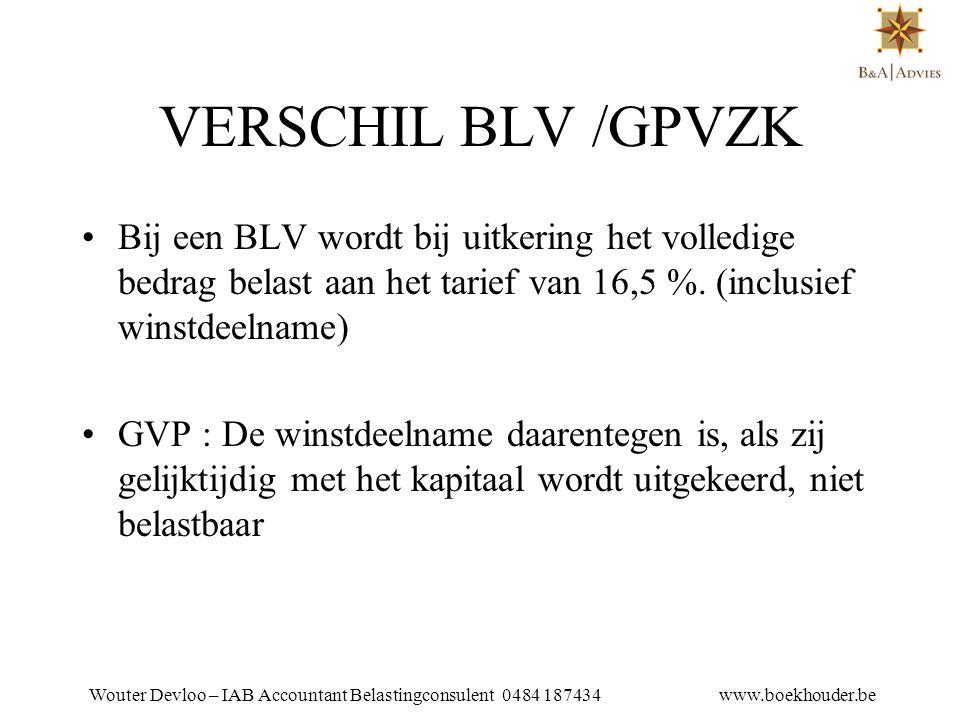 Wouter Devloo – IAB Accountant Belastingconsulent 0484 187434 www.boekhouder.be NADELEN •Collectief karakter : kan niet afgesloten worden voor één persoon •Weigeringsrecht : men kan weigeren om mee te doen.