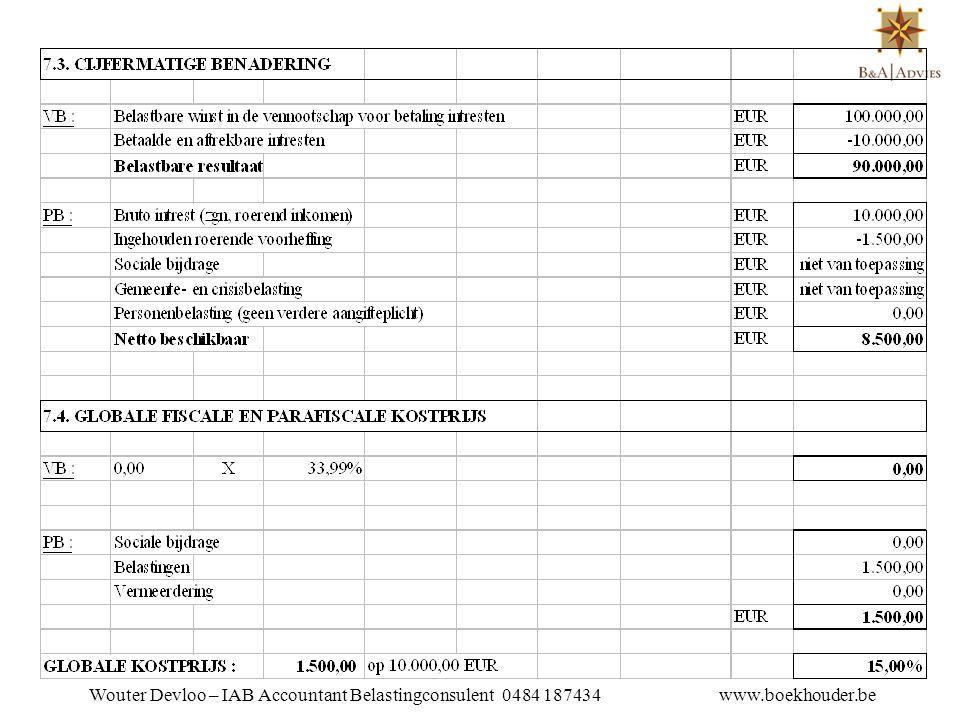 FISCAAL REGIME VB : - Intresten in principe 100% aftrekbaar  Herkwalificatie als dividenden = lening > gestort kapitaal (einde bj) + belaste reserve (begin bj)  Herkwalificatie als dividenden = uitgekeerde intresten > marktrente PB :  Uitbetaalde intresten = 85%, ingehouden 15% roerende voorheffing  Niet opnemen in de aangifte -> geen belastingen, soc.