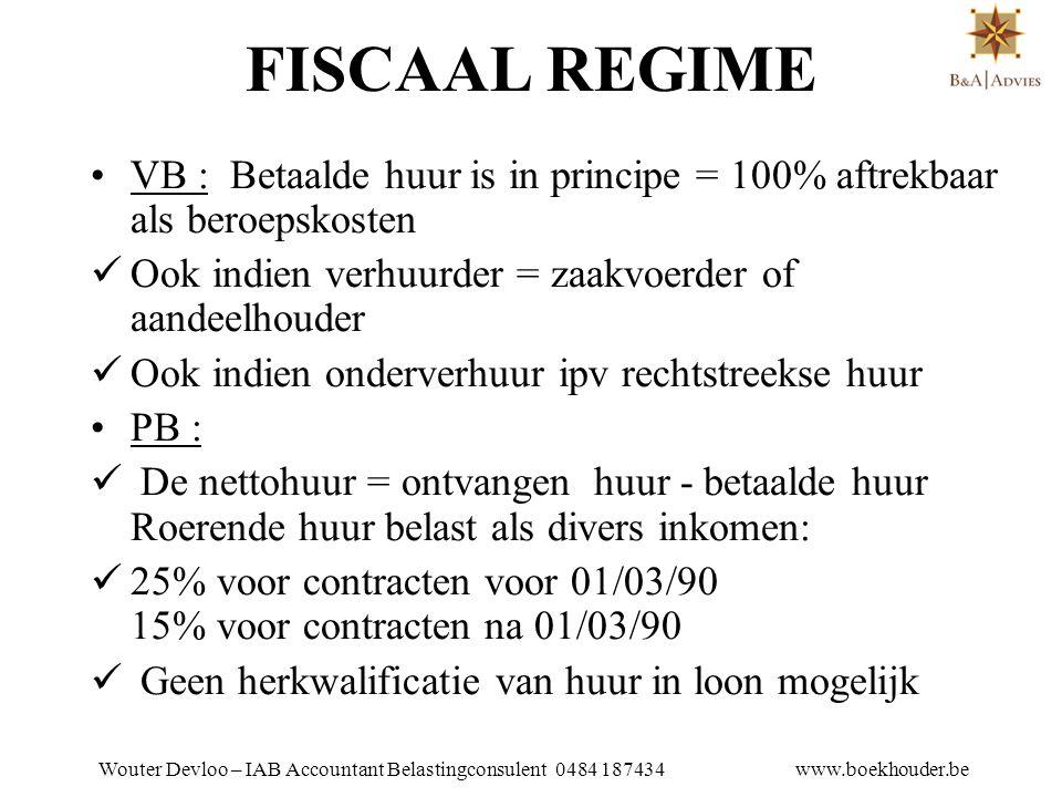 Wouter Devloo – IAB Accountant Belastingconsulent 0484 187434 www.boekhouder.be m.b.t.