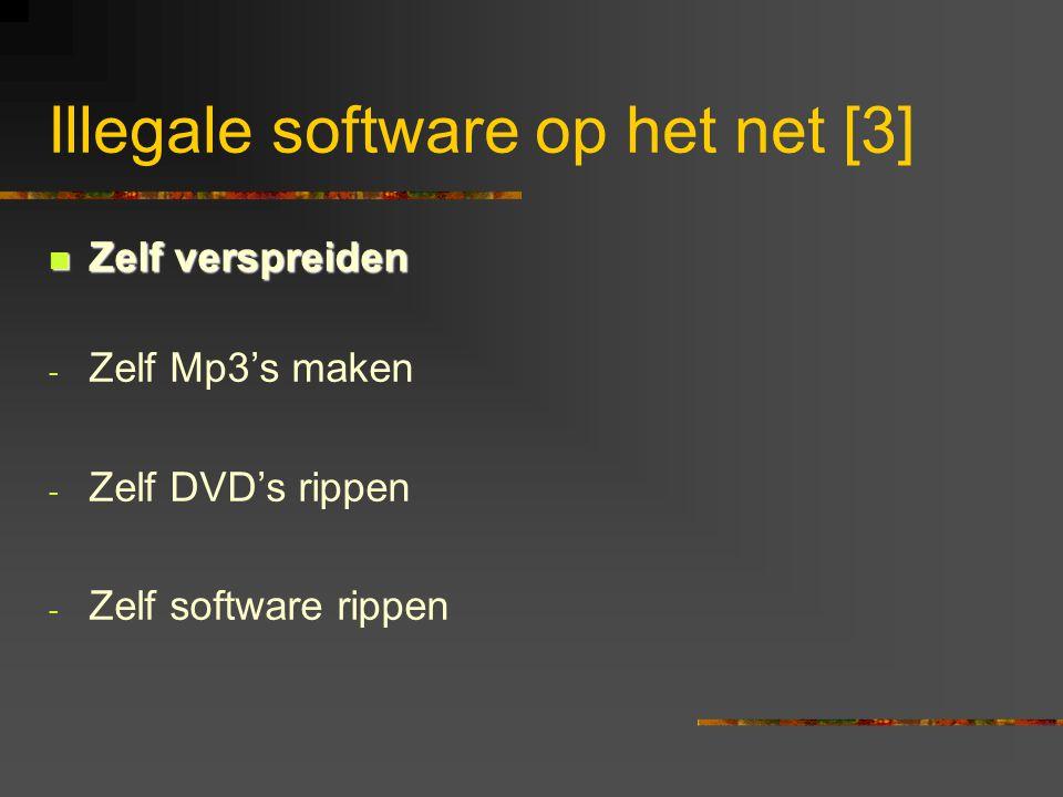 Illegale software op het net [3]  Zelf verspreiden - Zelf Mp3's maken - Zelf DVD's rippen - Zelf software rippen