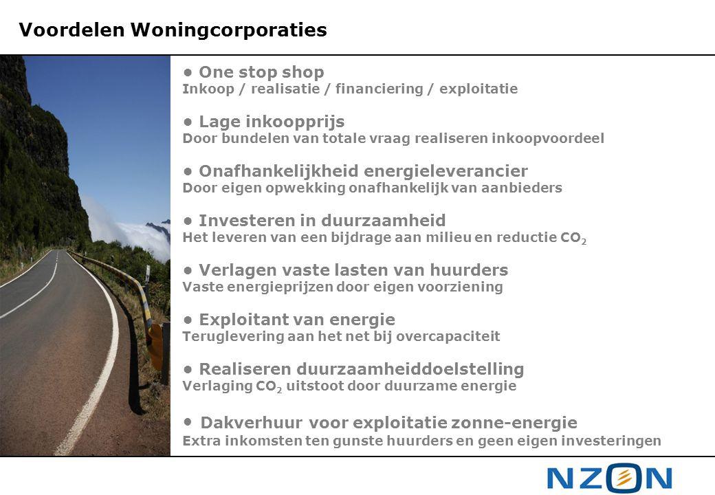 Voordelen Woningcorporaties • One stop shop Inkoop / realisatie / financiering / exploitatie • Lage inkoopprijs Door bundelen van totale vraag realise