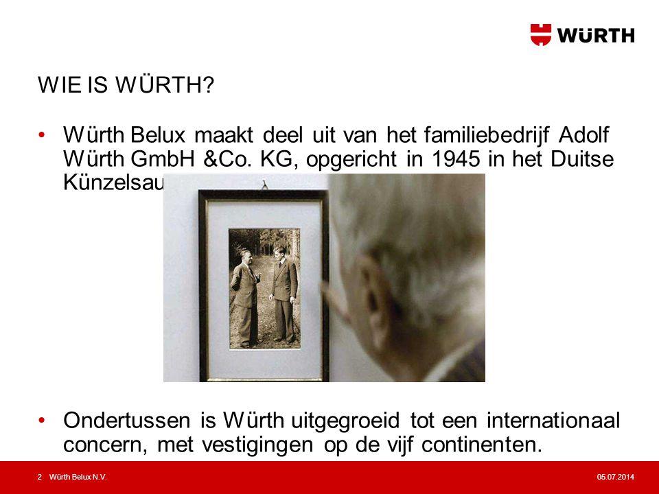 05.07.2014Würth Belux N.V.3 WIE IS WÜRTH.EEN FAMILIEBEDRIJF Bettina Würth Prof.