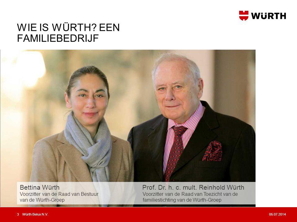 05.07.2014Würth Belux N.V.4 •Würth is marktleider in de verkoop van bevestigings- en montagemateriaal.