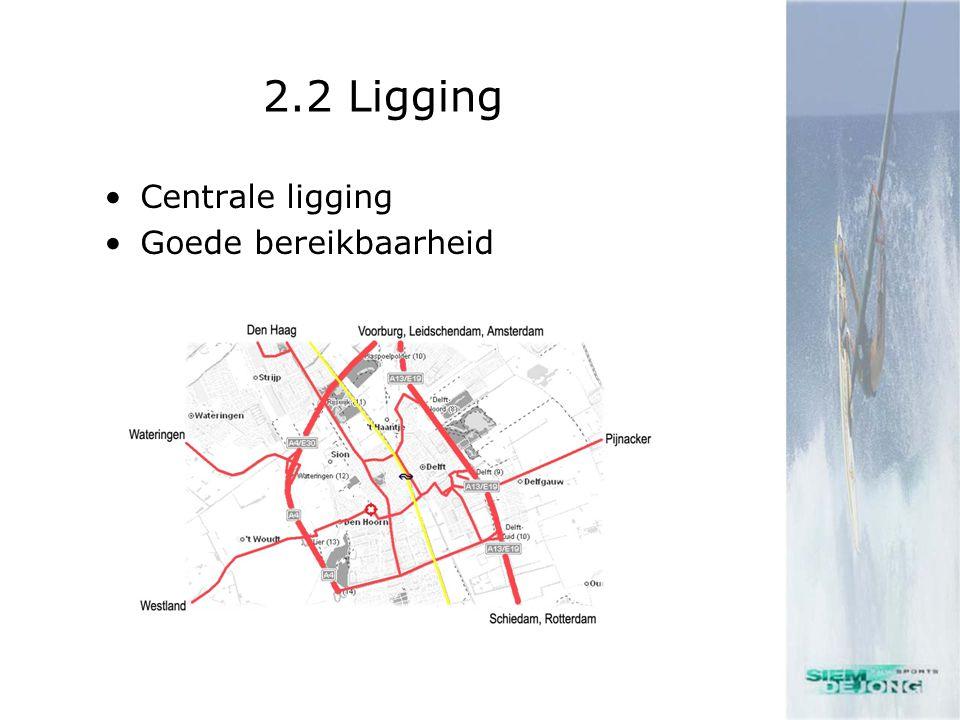 2.2 Ligging •Centrale ligging •Goede bereikbaarheid