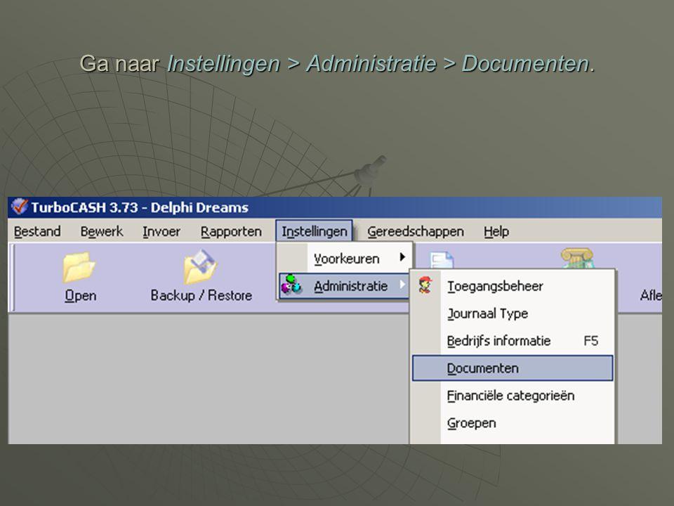 Controleer de document instellingen en pas eventueel de nummers aan.