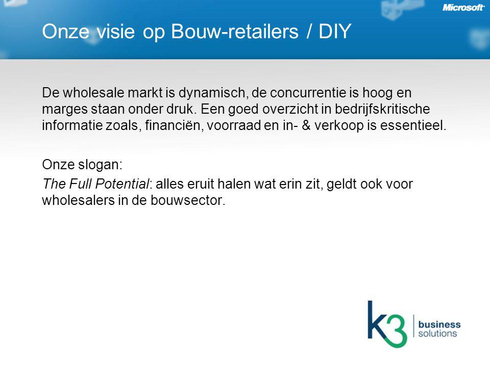 Onze visie op Bouw-retailers / DIY De wholesale markt is dynamisch, de concurrentie is hoog en marges staan onder druk.
