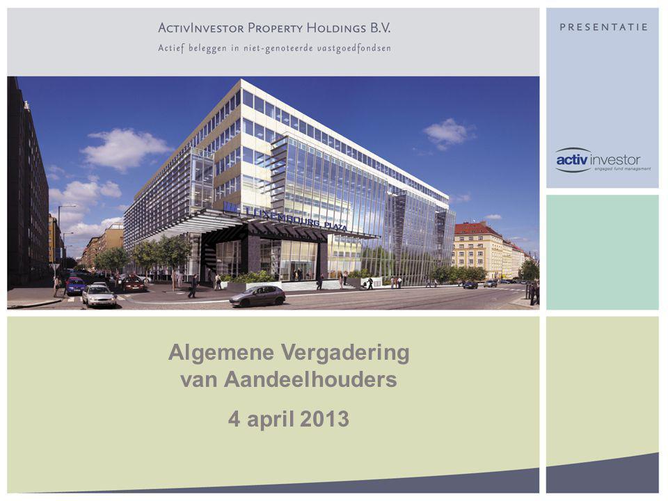 Algemene Vergadering van Aandeelhouders 4 april 2013