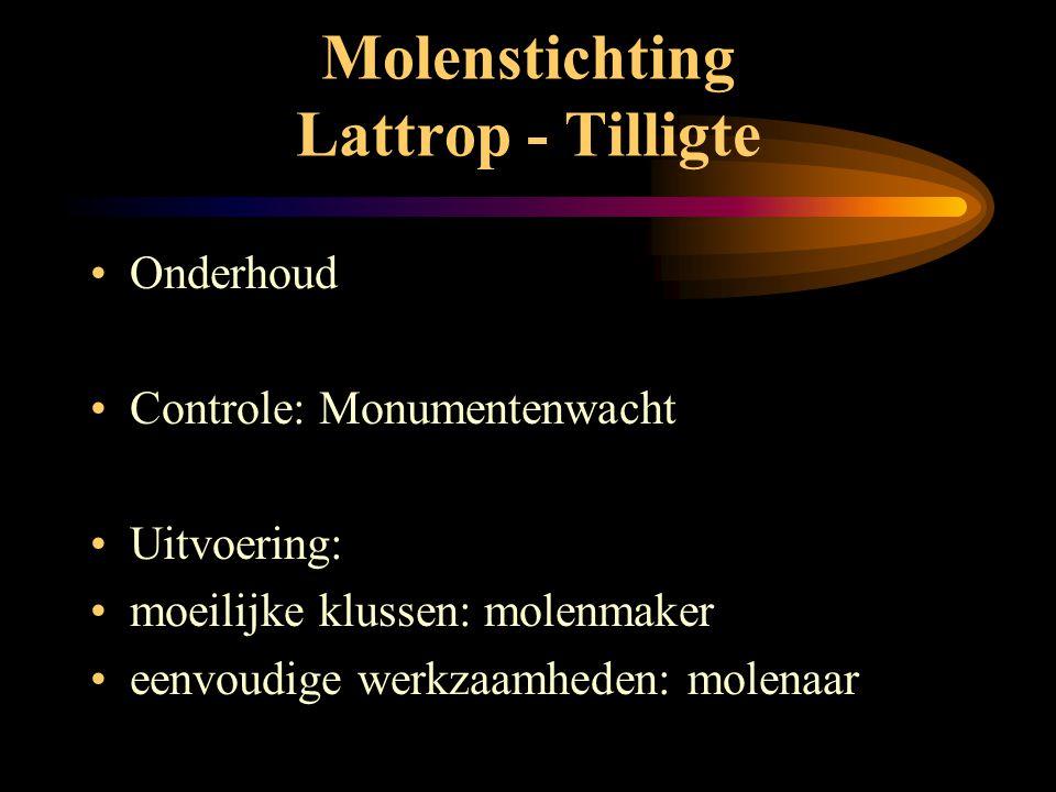 Molenstichting Lattrop - Tilligte •V•Verkoop: • pannenkoekenmeel • volkorenmeel • molenbloem • boekweitmeel • slachtmeel • ansichtkaarten + receptenbo