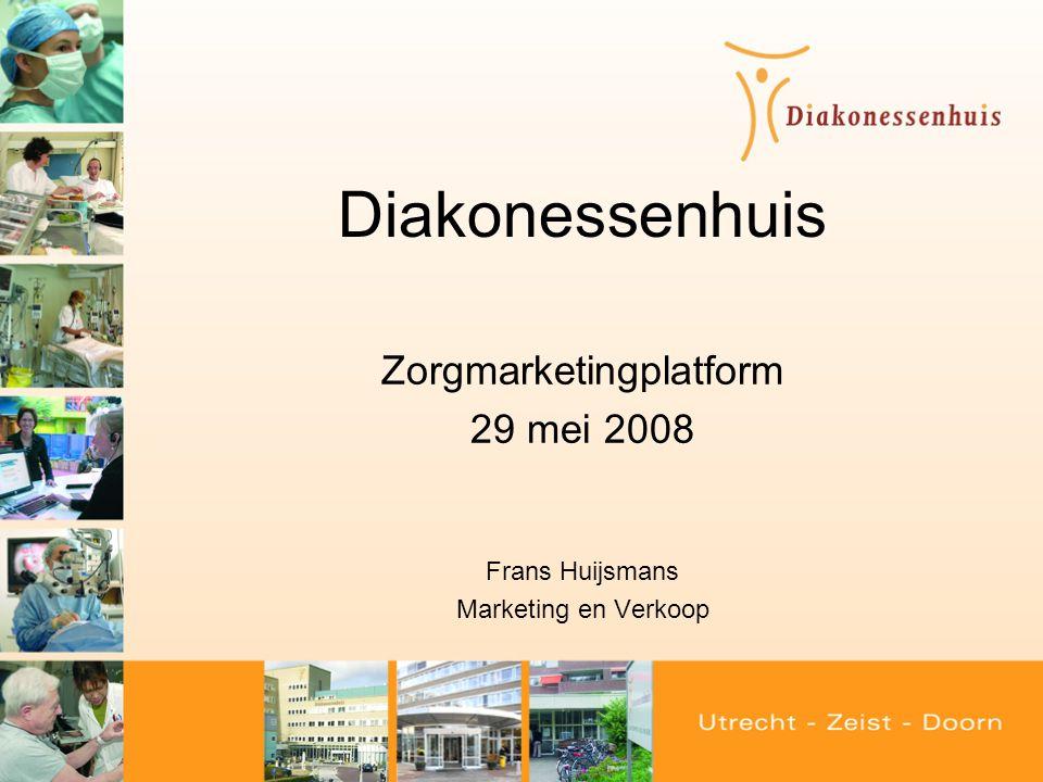 Opbouw presentatie •Diakonessenhuis situatieschets •Terugblik en de 'bewegingen' •Voorbeeld Markt: Regionale benchmark •Voorbeeld Ondernemerschap: DCU •Marketing en Verkoop •Ontwikkelingen
