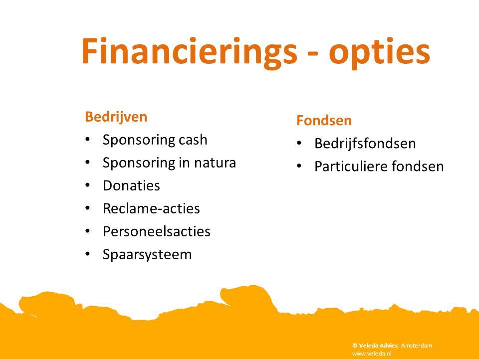 Bedrijven • Sponsoring cash • Sponsoring in natura • Donaties • Reclame-acties • Personeelsacties • Spaarsysteem Fondsen • Bedrijfsfondsen • Particuli