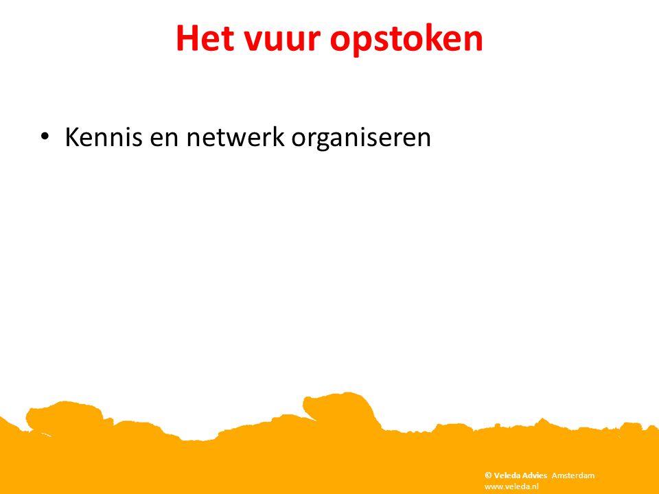 Het vuur opstoken • Kennis en netwerk organiseren Copyright Veleda Advies, Amsterdam. www.veleda.nl © Veleda Advies Amsterdam www.veleda.nl
