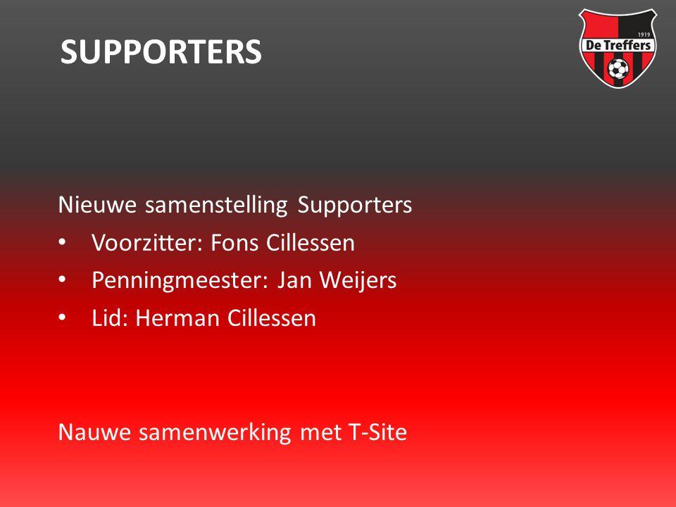 SUPPORTERS Nieuwe samenstelling Supporters • Voorzitter: Fons Cillessen • Penningmeester: Jan Weijers • Lid: Herman Cillessen Nauwe samenwerking met T-Site