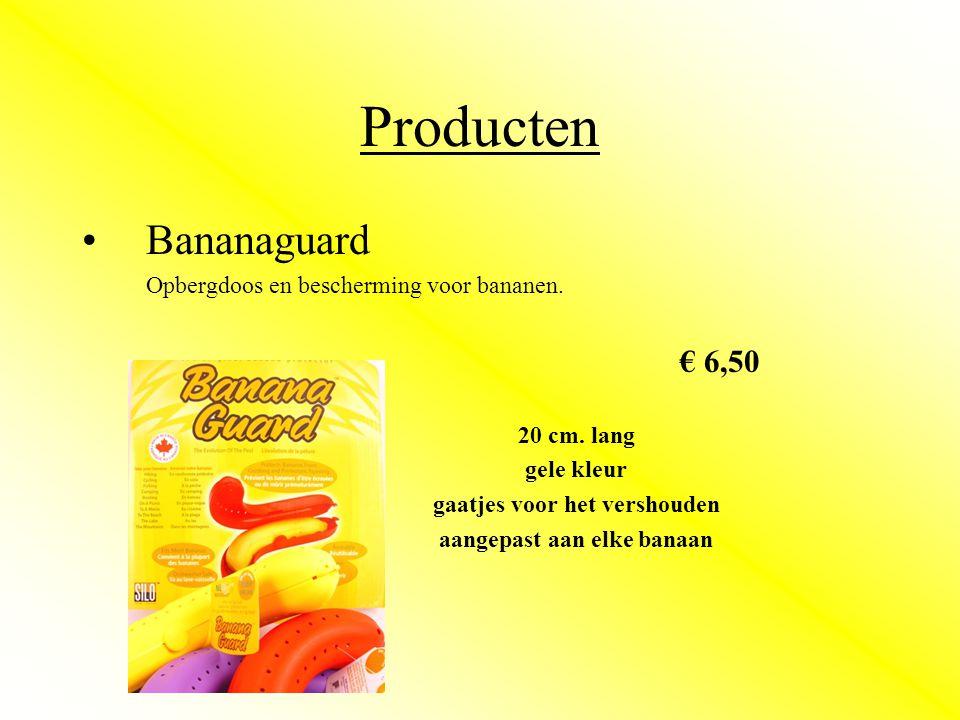 Producten •Bananaguard Opbergdoos en bescherming voor bananen.