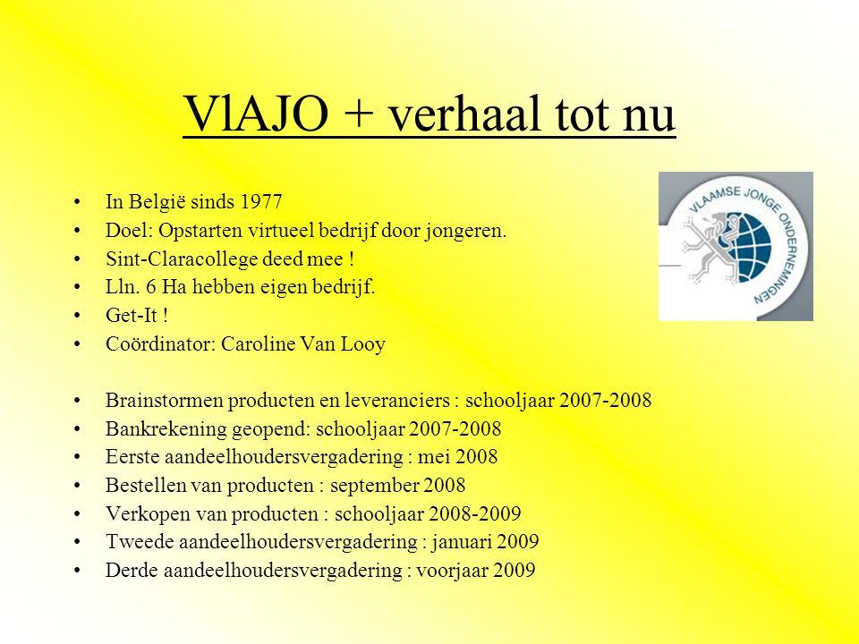 VlAJO + verhaal tot nu •In België sinds 1977 •Doel: Opstarten virtueel bedrijf door jongeren.