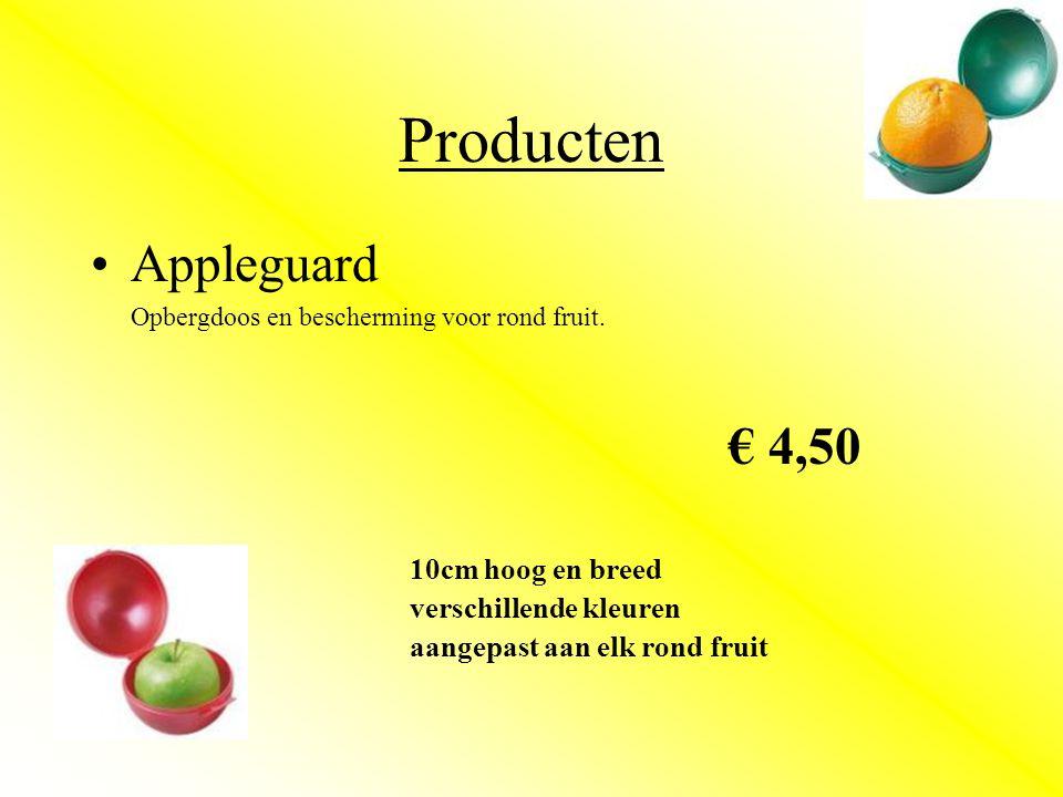 Producten •Appleguard Opbergdoos en bescherming voor rond fruit.