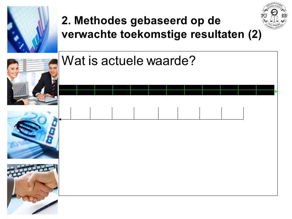 2. Methodes gebaseerd op de verwachte toekomstige resultaten (2) Wat is actuele waarde?
