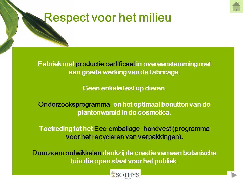 Bescherming van de mens - Een minimum aan bewaarmiddelen in onze formules om een maximum aan tolerantie en veiligheid te bieden.