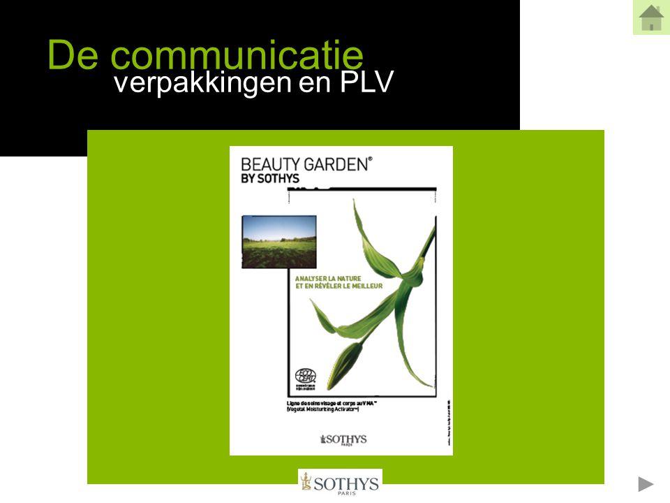 Grafisch handvest Een keuze Het moderne + de elegantie van Sothys Verbonden met de groene cosmetische waarden van de Auriac tuinen = het specifiek Beauty Garden® Grafisch handvest