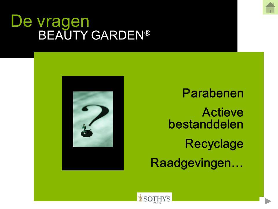Zitten er parabenen in Beauty Garden® .1/2 •De Beauty Garden® producten bevatten geen parabenen.