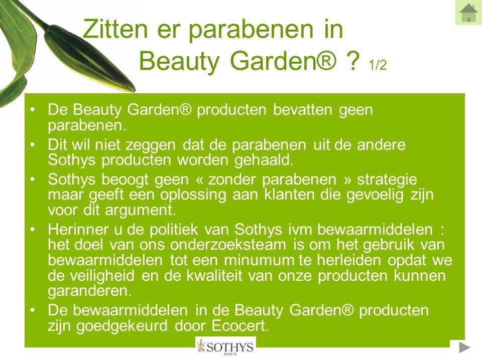 Zitten er paraben in Beauty Garden® .