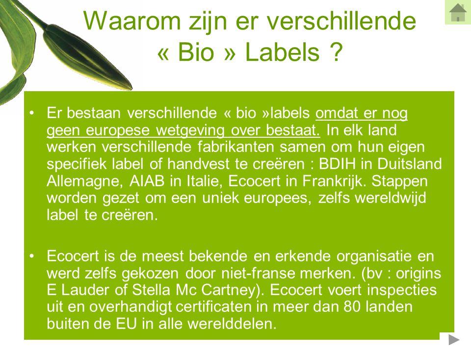 Klein « bio » woordenboek •Biologisch : afkomstig van biologische landbouw.
