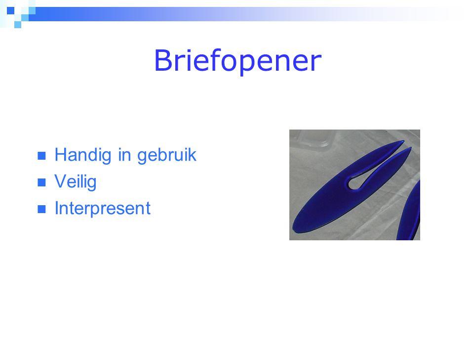 Briefopener  Handig in gebruik  Veilig  Interpresent