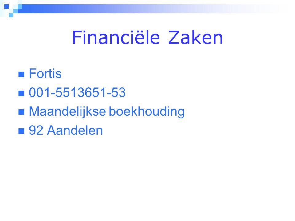 Financiële Zaken  Fortis  001-5513651-53  Maandelijkse boekhouding  92 Aandelen