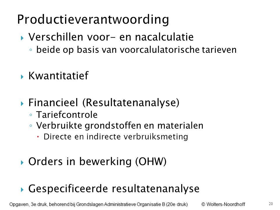 20  Verschillen voor- en nacalculatie ◦ beide op basis van voorcalulatorische tarieven  Kwantitatief  Financieel (Resultatenanalyse) ◦ Tariefcontro