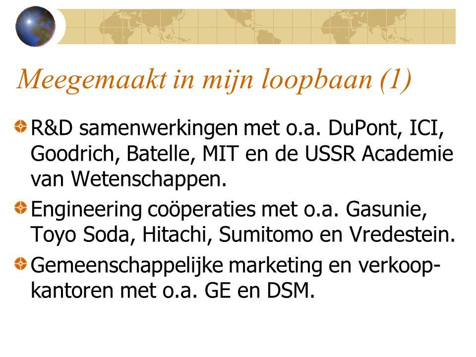 Meegemaakt in mijn loopbaan (2) Licenties geven en nemen met vele bedrijven in verschillende landen.