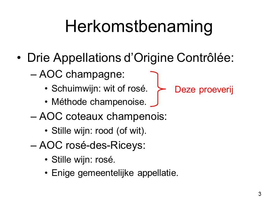 14 Méthode champenoise/traditionelle Rosé champagne maken •Twee methodes: 1.Assemblage •Hoe.
