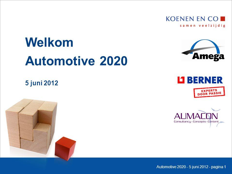 Welkom Automotive 2020 5 juni 2012 Automotive 2020 - 5 juni 2012 - pagina 1