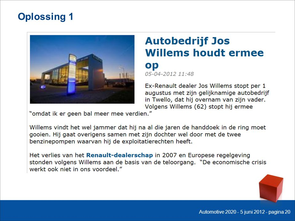 Oplossing 1 Automotive 2020 - 5 juni 2012 - pagina 20