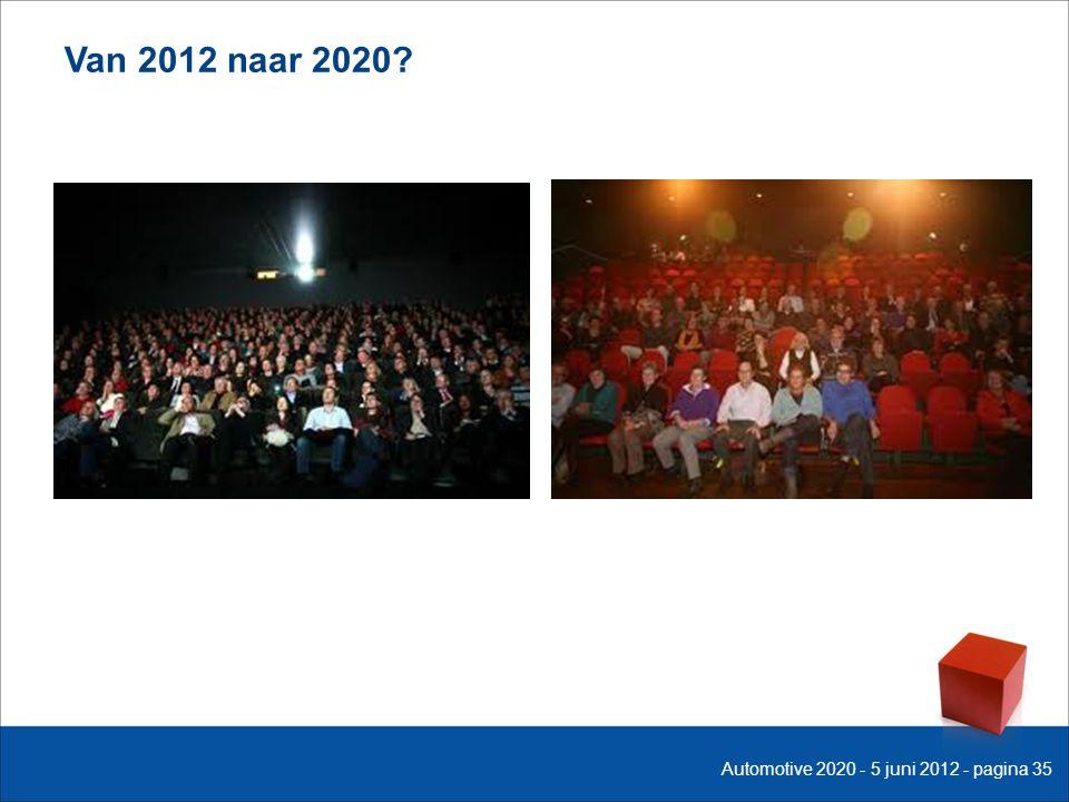 Van 2012 naar 2020? Automotive 2020 - 5 juni 2012 - pagina 35